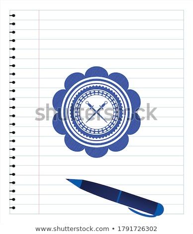 Crossed saber sketch icon. Stock photo © RAStudio