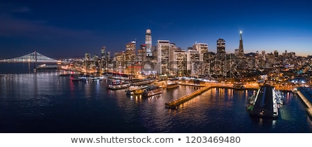 aerial of san francisco by night stock photo © meinzahn