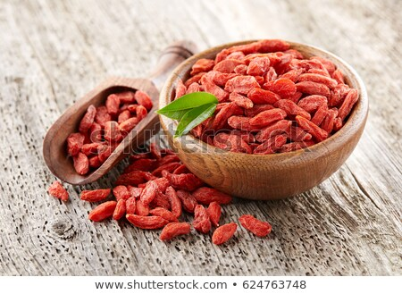 Stockfoto: Gedroogd · bessen · full · frame · vruchten · Rood · achtergronden