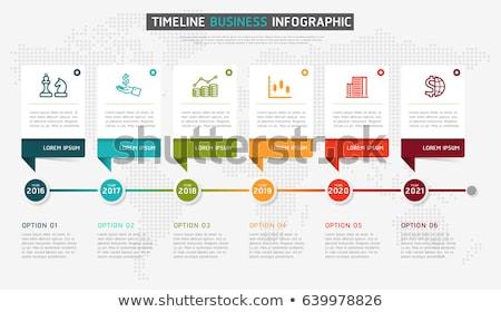 Stock fotó: Vektor · infografika · idővonal · jelentés · sablon · mérföldkövek