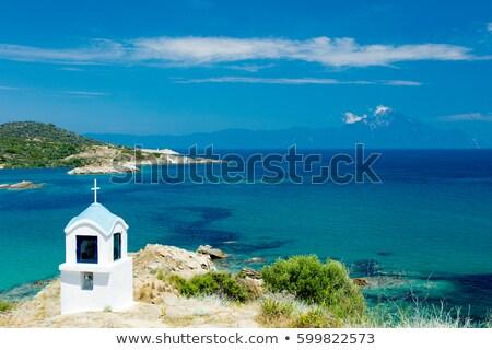 Ver maravilhoso pequeno igreja Grécia mar Foto stock © Massonforstock