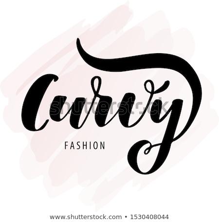 ストックフォト: ロゴ · プラスサイズ · 女性 · シンボル · 少女 · 手