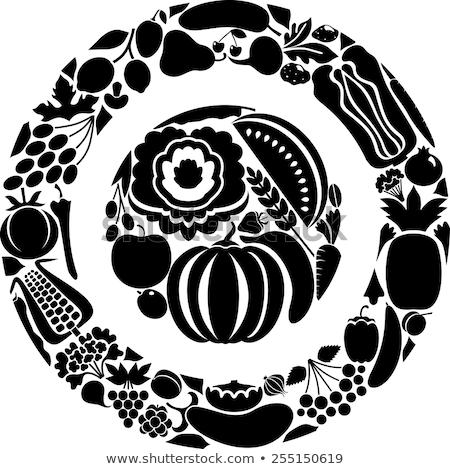 вегетарианский · зерновых · тыква · груши · Вишневое - Сток-фото © tatiana3337