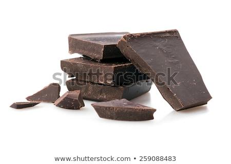 chocolate · isolado · branco · multidão · fundo - foto stock © petrmalyshev
