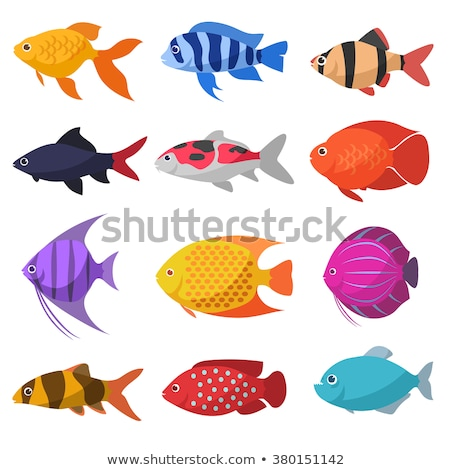 Underwater background with tropical fish, vector illustration Stock photo © carodi
