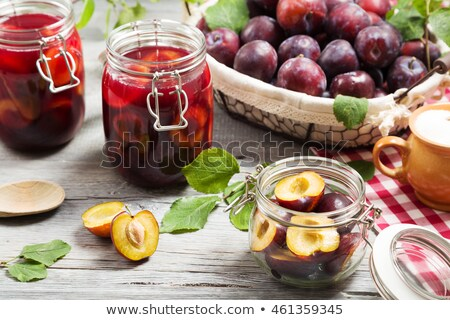 Bowl of plum compote Stock photo © Digifoodstock
