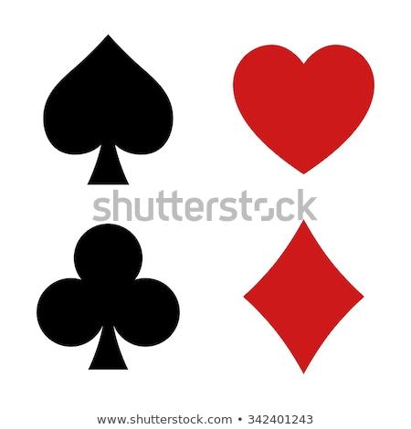 Diamond spades poker elements, vector illustration Stock photo © carodi