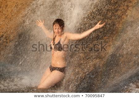 idílico · cachoeira · natureza · cena · colorido · rocha - foto stock © monkey_business