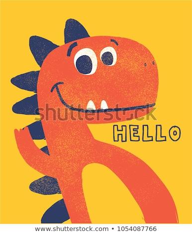 Bonitinho Desenho Animado Dinossauro Engracado Infantil