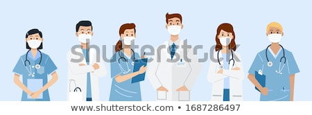 Male and female doctors and nurses Stock photo © bluering