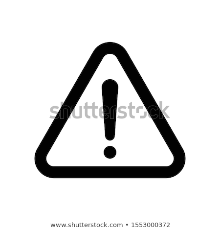 Stock photo: warning sign icons exclamation