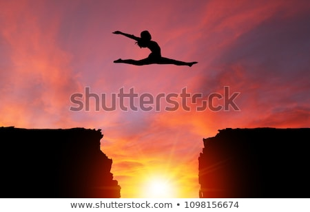 Split leap. Stock photo © Fisher
