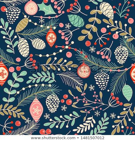 vektör · Noel · kış · tasarımlar · kumaş - stok fotoğraf © pravokrugulnik