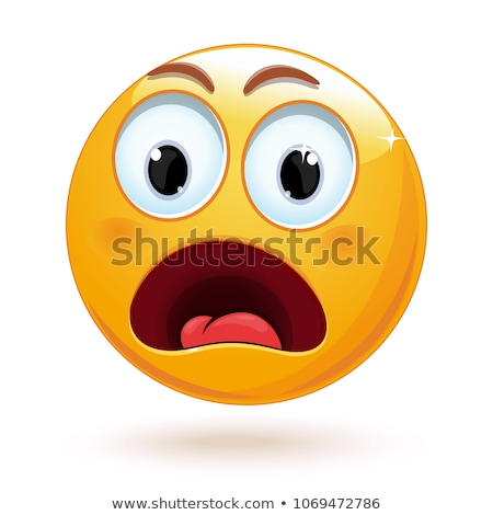 Photo stock: Emoji - Shock Orange Smile Isolated Vector