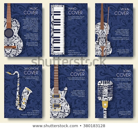 Stock photo: music festival invitation design with notes