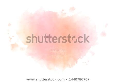 Jasne żółty różowy akwarela plama wektora Zdjęcia stock © SArts