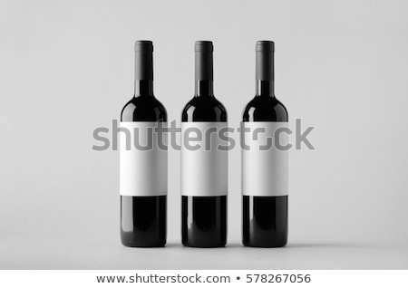 three mockups of wine bottles with labels Stock photo © AnatolyM