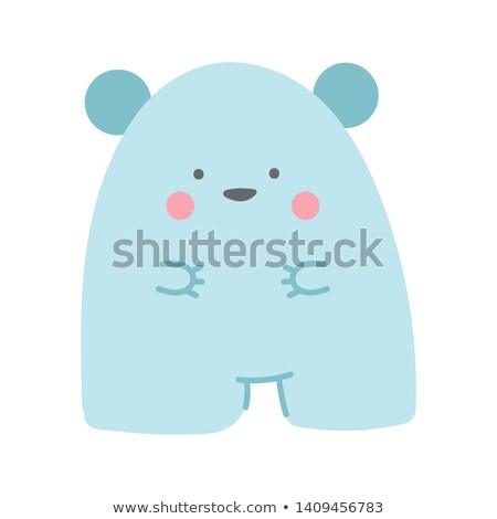 sticker · ingesteld · schattige · dieren · Blauw · illustratie · achtergrond - stockfoto © bluering
