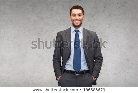человека костюм молодым человеком серый Сток-фото © filipw