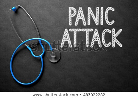 panic attack concept on chalkboard 3d illustration stock photo © tashatuvango