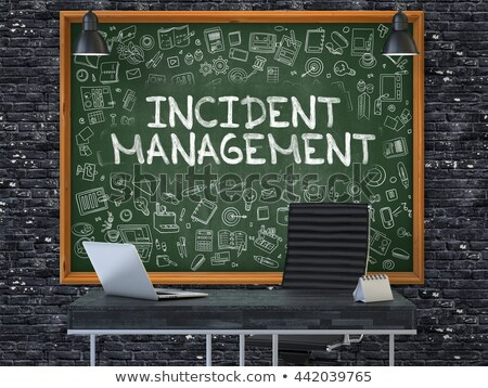 Hand Drawn Risk Management on Green Chalkboard. Stock photo © tashatuvango