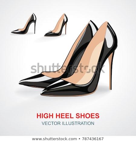 Pompen schoen geïsoleerd illustratie Geel Stockfoto © robuart