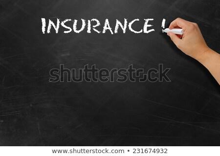 Insurance Plans Handwritten by White Chalk on a Blackboard. Stock photo © tashatuvango
