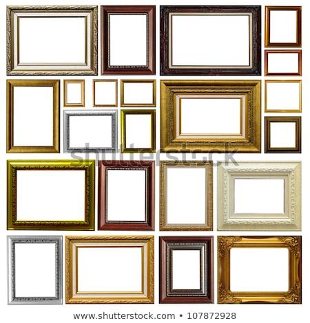 Argento vintage photo frame isolato bianco sfondo Foto d'archivio © jiaking1