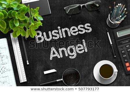 黒 黒板 天使 投資家 3D レンダリング ストックフォト © tashatuvango
