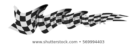 Checkered race flag Stock photo © bestmoose