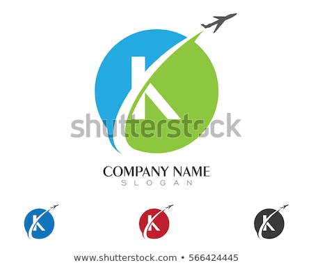 K Letter Faster Logo Template Stock photo © Ggs