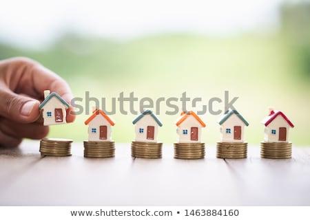tulajdon · piac · üzlet · beruházás · ingatlan · ikon · gyűjtemény - stock fotó © genestro