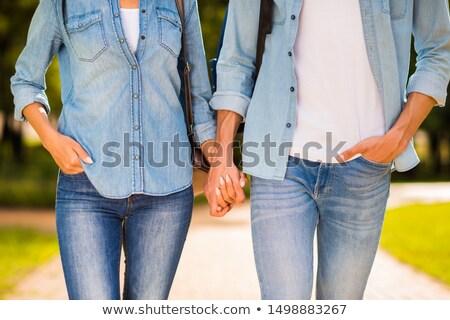 手 · カップル · 手をつない · ビーチ · 砂 · 女性 - ストックフォト © deandrobot