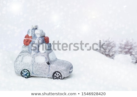 Vintage Toy Truck Loaded with Christmas Gifts Stock photo © StephanieFrey