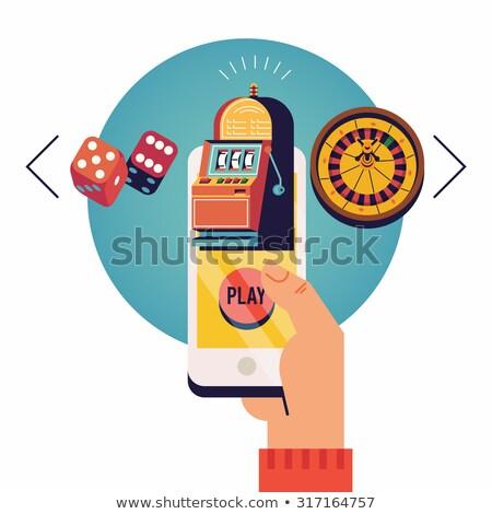 vecteur · ligne · mobiles · casino · app · jeux - photo stock © krisdog