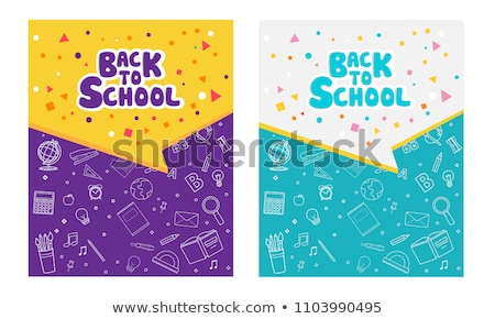 Colored pencils frame for text. Back to school frame, invitation. Vector illustration. Stock photo © lucia_fox