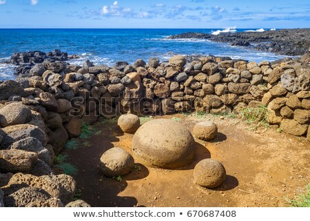Magnetico pietre Isola di Pasqua Chile Pasqua natura Foto d'archivio © daboost