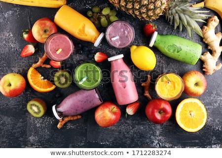 frutta · fresca · succo · collage · alimentare · mele - foto d'archivio © denismart