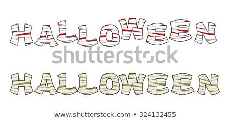 Halloween metin harfler tıbbi mısır zombi Stok fotoğraf © popaukropa