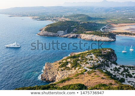 View of coastline in the Peloponnese region of Greece, from the Palaiokastro Stock photo © ankarb