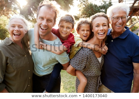 3 generations outdoors Stock photo © IS2