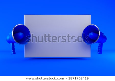 two red and white megaphones 3d stock photo © djmilic