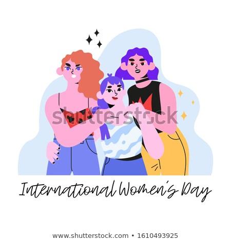 Accueil cartes design dévoué femmes jour Photo stock © robuart
