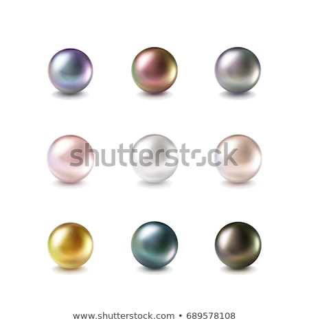 czarny · realistyczny · perła · odizolowany · biały · morza - zdjęcia stock © Makstorm