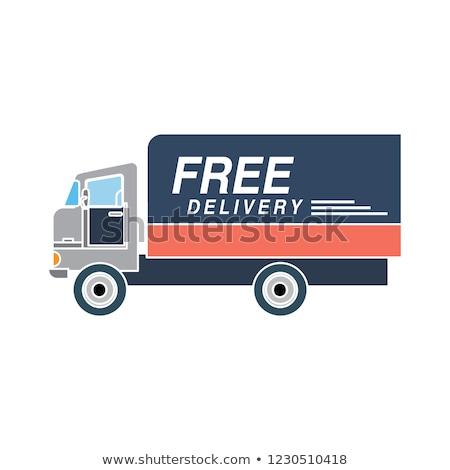 kereskedelmi · teherautó · izolált · ikon · modern · teherautó - stock fotó © studioworkstock