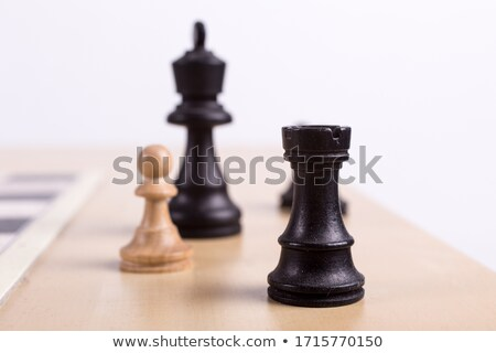 Chessboard with figures close-up Stock photo © tracer