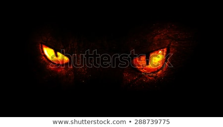 Red evil eyes on black background Stock photo © sidmay