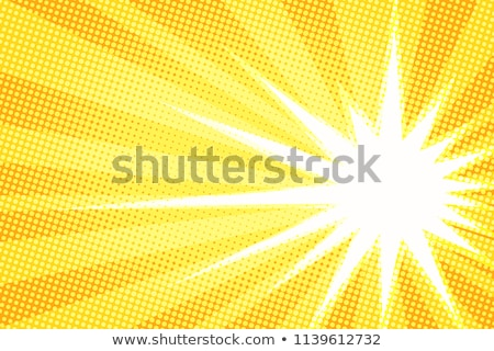 white burst orange background pop art Stock photo © studiostoks