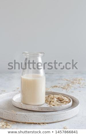 Mały butelki owies mleka organiczny Zdjęcia stock © mpessaris