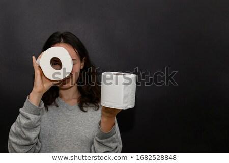 Lány néz wc zsemle gyermek női Stock fotó © IS2